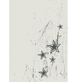 Blue red star on wooden texture vector