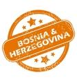 Bosnia and herzegovina grunge icon vector