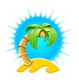 Island with palm and sand vector
