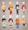 Professions idea set1 vector