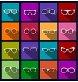 Colorful icons sunglasses vector
