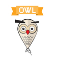 Abstract owl vector