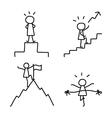 Set of hand drawing cartoon business vector