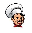 Cartoon chef in toque vector