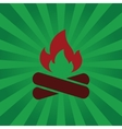 Fire symbol on background beams vector