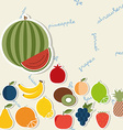 Fruit pattern the image of fruits and berries vector