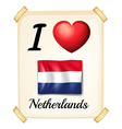 I love netherlands vector
