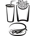 Simple with fast food vector