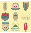 Set of vintage fashion and clothes style logos vector
