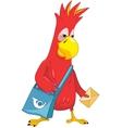 Funny parrot postman vector