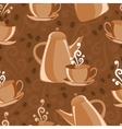 Seamless background coffee theme vector