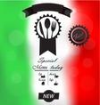 Italian menu poster vector