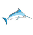 Simple swordfish isolated on the white vector