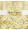 Vintage pattern golden napkin on floral and stripe vector