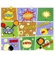 Mockups of comic book speech bubbles vector
