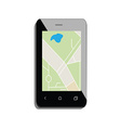 Smartphone with gps vector
