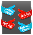 Left and right side signs - best buy vector