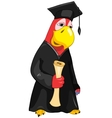 Funny parrot student vector