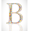 Abstract letter b vector