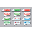 Set of commercial pointer signs vector