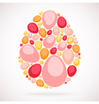 Colorful mosaic egg vector