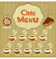Cafe menu coffee vector