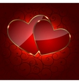 Valentines day heart backgroung vector