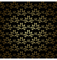 Black and gold seamless pattern - vintage vector