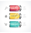 Detailed glossy battery like menu vector