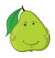 Happy green pear vector