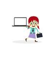 Business presentation cartoon character vector