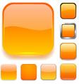 Square orange app icons vector