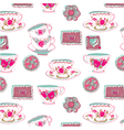 Tea cup wallpaper vector