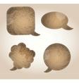 Aged paper speech bubbles vector
