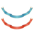 Red and blue ribbons vector