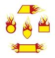 Burning emblems vector