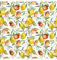 Lemons and oranges vector