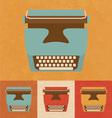 Retro typewriter vector