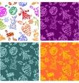 Christmas decorations - seamless pattern set vector
