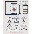 Hanger shopping time vector