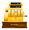 Antique cash register vector