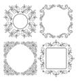 Black vintage floral frames - set vector