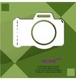 Photo camera flat modern web button on a flat vector
