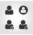 User man icons set flat design vector
