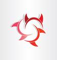 Devil horns abstract symbol vector