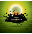 On a halloween theme on green backgro vector