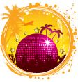 Grunge tropical party vector