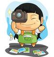 Cartoon of girl loves photography vector