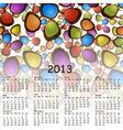 2013 abstract calendar with cartoon schemes of con vector