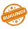 Burundi grunge icon vector